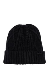 Diesel Cable Knit K Udit Beanie Black
