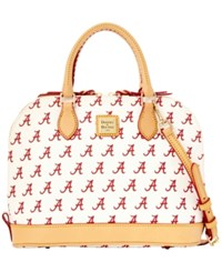 Dooney And Bourke Alabama Crimson Tide Zip Zip Satchel White