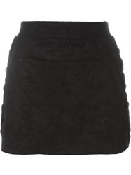 8Pm Side Buttons Mini Skirt Black