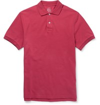 J.Crew Slim Fit Cotton Pique Polo Shirt Red
