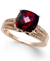 Effy Collection Effy Rhodalite Garnet 3 1 4 Ct. T.W. And Diamond 1 5 Ct. T.W. Ring In 14K Rose Gold