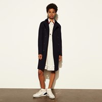 Coach Classic Wool Trench Midnight Navy