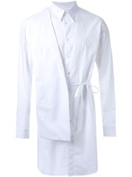 Consistence Detachable Blazer Shirt White