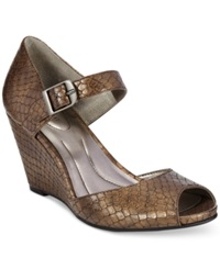 Style And Co. Bessye Mary Jane Dress Wedges Only At Macy's Women's Shoes Bronze