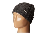 Michael Michael Kors Cable Knit Hat With Fold Up Cuff Derby Knit Hats Black
