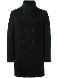 Armani Collezioni Notched Lapel Boxy Coat Black