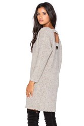 Rebecca Minkoff Bass Open Back Sweater Dress Beige