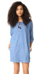 Madewell Denim Tassel Dress Jayne Wash
