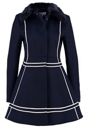 Patrizia Pepe Short Coat Navy Dark Blue