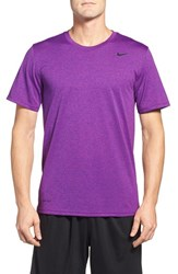 Nike Men's 'Legend 2.0' Dri Fit Training T Shirt Cosmic Purple Court Purple
