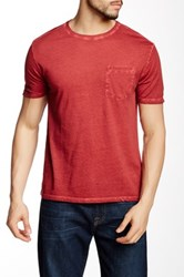 Star Usa By John Varvatos Short Sleeve Cold Dye Knit Crew Neck Tee Red