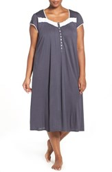 Eileen West Plus Size Women's Modal Waltz Nightgown