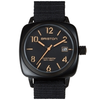 Briston Clubmaster Hms Watch Matte Black And Orange