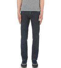 Brioni Washed Regular Fit Straight Jeans Mid Denim