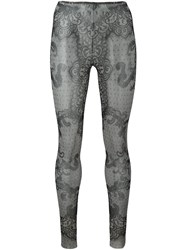 Dsquared2 Underwear Lace Print Leggings Black
