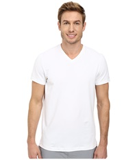 Kenneth Cole Sportswear Short Sleeve V Neck White Men's Short Sleeve Pullover