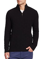 Saks Fifth Avenue Cashmere Cardigan Sweater Black