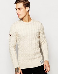Superdry Cable Knit Jumper Cream