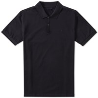 Lanvin Embroidered L Polo Blue