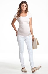 Isabella Oliver Women's Scoop Neck Maternity Tee Pure White