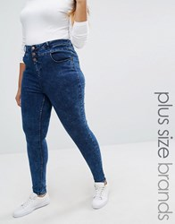 New Look Plus Highwaisted Skinny Jeans Navy