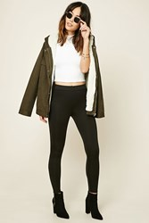 Forever 21 Contemporary Long Leggings Black