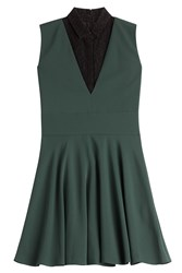 The Kooples Dress With Lace Green