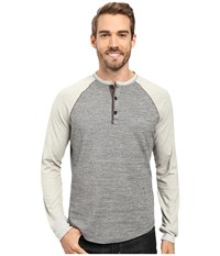 True Grit Twisted Heathers Raglan Henley Smoke Men's Clothing Gray