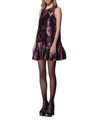 Cynthia Rowley Floral Print Dress Black Raspberry