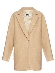 Maison Martin Margiela One Button Single Breasted Coat Beige