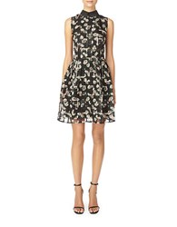 Erin Fetherston Floral Fit And Flare Dress Black Multi