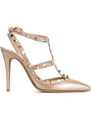 Valentino Garavani 'Rockstud' Pumps Nude And Neutrals