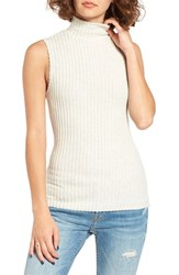 Michelle By Comune Women's Aledo Rib Knit Mock Neck Tank