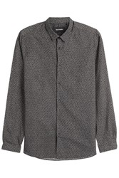 The Kooples Printed Cotton Shirt Grey