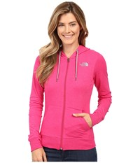 The North Face Lite Weight Full Zip Hoodie Cabaret Pink Heather Tnf Medium Grey Heather Women's Sweatshirt