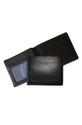 Boconi Leather Billfold Black Blue
