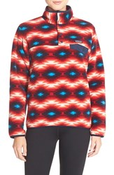 Women's Patagonia 'Synchilla' Lightweight Pullover Wild Desert Classic Red