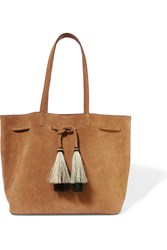 Loeffler Randall Tasseled Suede Tote Light Brown