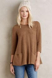 Anthropologie Cashmere Swing Pullover Moss