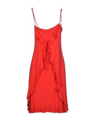 Fisico Cristina Ferrari Knee Length Dresses Red