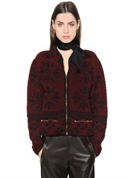 Chloe Wool And Cashmere Jacquard Knit Jacket