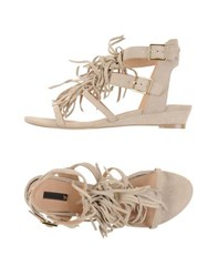 Supertrash Footwear Thong Sandals Women Beige