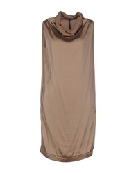 Liviana Conti Dresses Knee Length Dresses Women Khaki