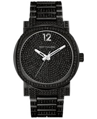 Wittnauer Men's Aiden Crystal Accent Black Tone Stainless Steel Bracelet Watch 42Mm Wn3008