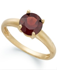 Victoria Townsend 18K Gold Over Sterling Silver Ring Garnet January Birthstone Ring 1 1 2 Ct. T.W.