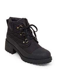 Lucky Brand Akonn Quilted Sherpa Lined Booties Black