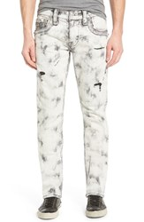 Men's Rock Revival 'Ben A33' Alternative Straight Leg Jeans Tiedye Light Grey