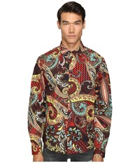 Versace Classic Button Down Russet Men's Clothing Brown