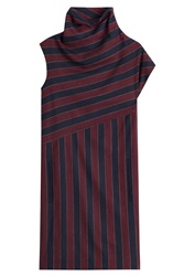 Carven Striped Dress With Wool Multicolor