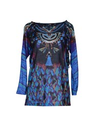 Antik Batik Topwear Long Sleeve T Shirts Women Blue